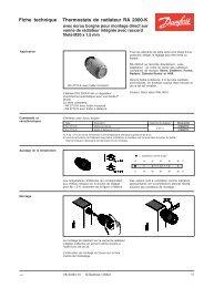 Fiche technique Thermostats de radiateur RA 2000-K