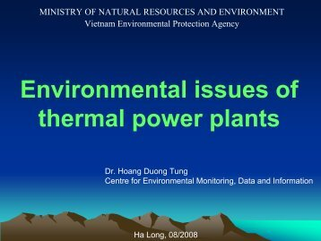 3. Environmental issues of thermal power plants in Vietnam