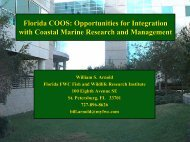 Arnold, Bill (FWRI): Florida COOS - College of Marine Science