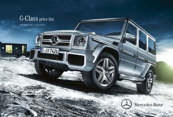 G-Class Price List June 2013 - Mercedes-Benz