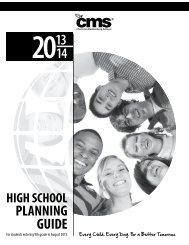 2013-14 High School Course Guide - Charlotte-Mecklenburg Schools