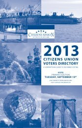 print version of the 2013 Primary Election Voters ... - Citizens Union