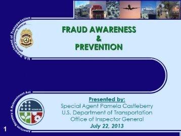 Pamela Castleberry - Fraud Awareness and Prevention