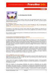Le développement durable - Ordre des experts-comptables de Paris ...