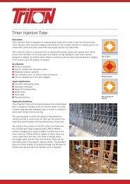 Triton Injection Tube Data Sheet Download (578Kb)