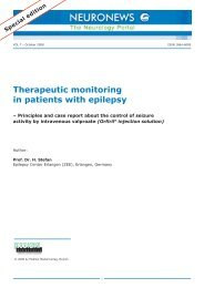 Therapeutic monitoring in patients with epilepsy - Desitin