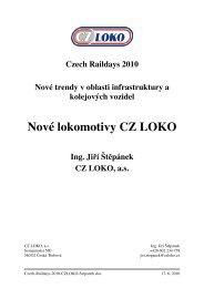 Nové lokomotivy CZ LOKO - Railvolution