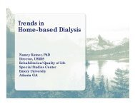 Trends in Home-based Dialysis - United States Renal Data System