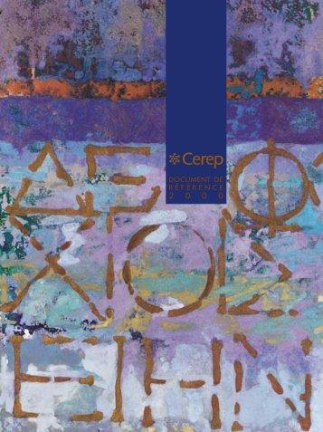 Document de référence - Cerep