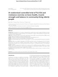 A randomised controlled trial of Tai Chi and resistance exercise on ...