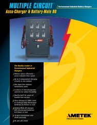 Multi Circuit - Industrial Battery Products