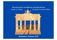 Presentation: World Agriculture, Food Security and Global Warming