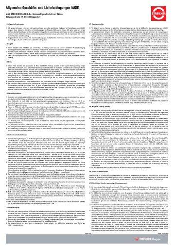 MAX STREICHER GmbH & Co. Kommanditgesellschaft auf Aktien