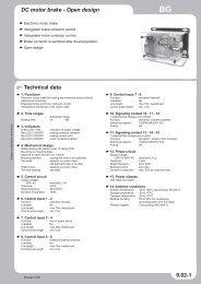 DC motor brake - Open design Technical data 9.02-1