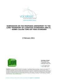 Voiceless - Animal Welfare Standards