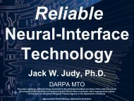 Reliable Neural-Interface Technology