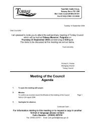 Meeting of the Council Agenda - Torbay Council