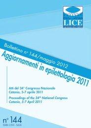 Bollettino n° 144 - Lice