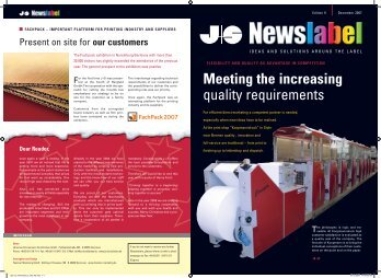 Meeting the increasing quality requirements
