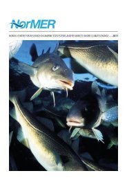 nordic centre for research on marine ecosystems and ... - NorMER