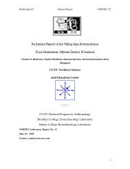An Interim Report of the Viking Age Archaeofauna From ... - Nabo