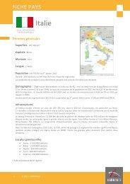 Fiche pays Italie 2012 - Veille info tourisme