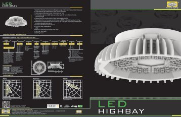LED Highbay Product Brochure - Hubbell Industrial Lighting