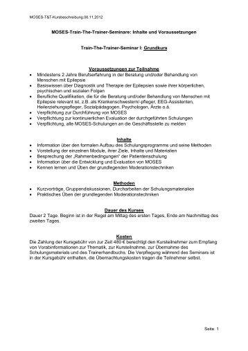 Train-The-Trainer Seminare: Inhalte und Voraussetzungen