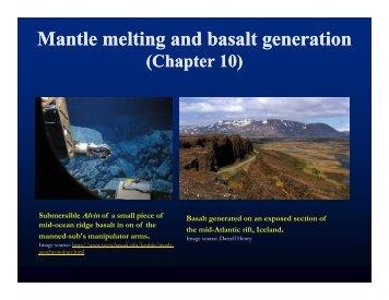 Mantle melting and basalt generation