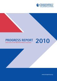 Progress Report 2010 - Transparency International