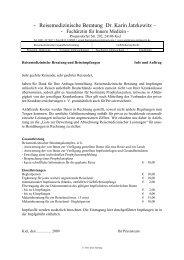 - Reisemedizinische Beratung Dr. Karin Jatzkewitz –