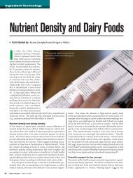 Nutrient Density and Dairy Foods - InnovateWithDairy.com