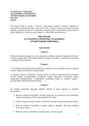 pravilnik o uvjetima i postupku za dodjelu studentskih stipendija