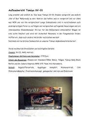 Aufbaubericht Tamiya XV-01 - offroad-CULT