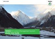 ÅKODA K2 Content Management System Dealer User ... - Å¡koda auto