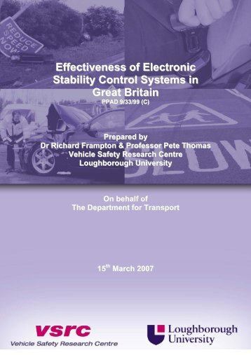 Effectiveness of Electronic Stability Control Systems in Great ... - Racc