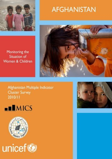 Afghanistan Multiple Indicator Cluster Survey - Reproductive Health ...