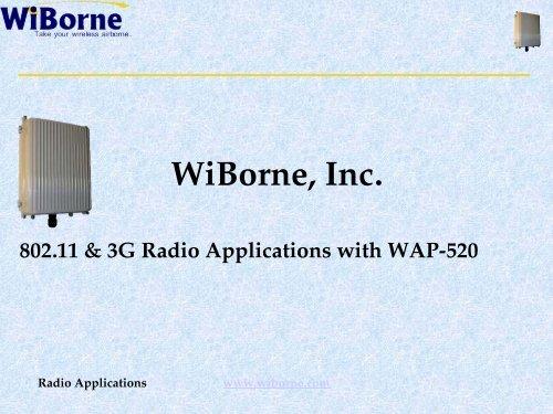 80211 3G Radio Applications With WAP W3G