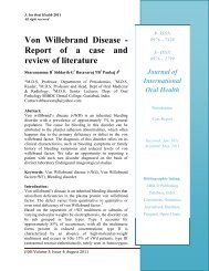 Von Willebrand Disease - Report of a case and review of ... - Ispcd.org