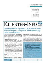 Klienten - Info September 2007 - Moore Stephens City Treuhand
