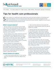 Tips for Health Care Professionals - ccasa