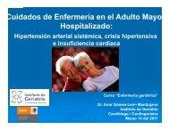 La HTA en Urgencias - Instituto Nacional de Geriatría