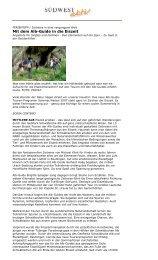 Mit dem Alb-Guide in die Eiszeit - EiszeitQuell