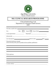 Application Form - Aga Khan University