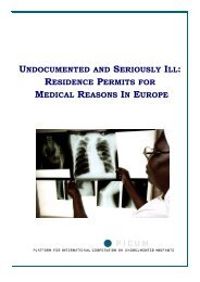 undocumented and seriously ill: residence permits for ... - PICUM