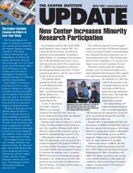 Winter 2003 Institute Update - Cooper Institute