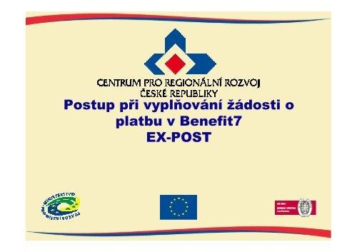 Postup při vyplňování žádosti o platbu v Benefit7 - prezentace CRR