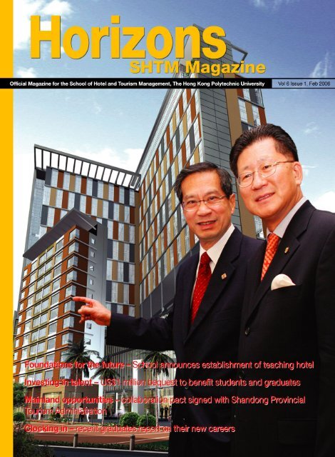 Vol 6 Issue 1, February 2006 - School of Hotel & Tourism ...