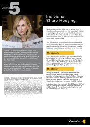 Individual Share Hedging - CommSec