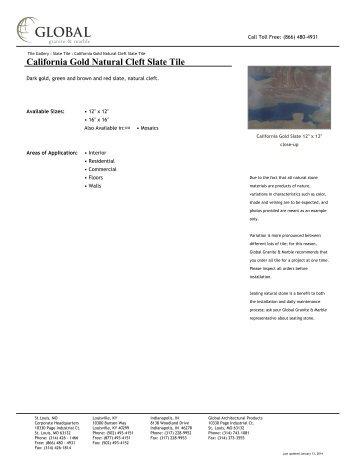 California Gold Natural Cleft Slate Tile - Global Granite & Marble